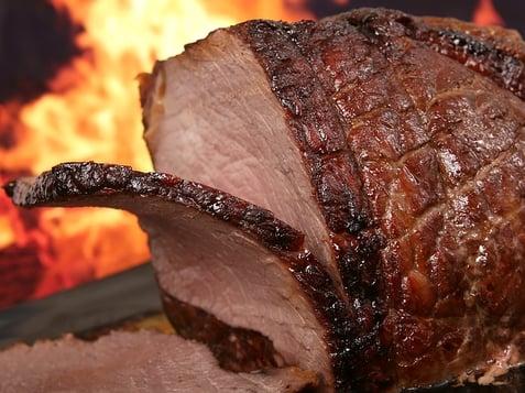 BBQ smoker ham