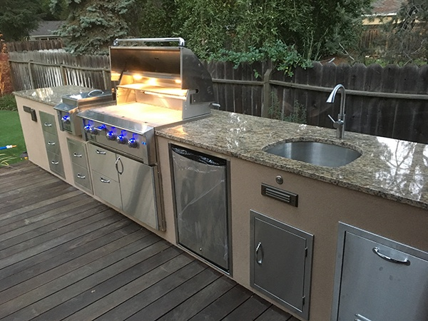 Can I build an outdoor kitchen on my deck?